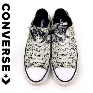 💕SALE💕Converse Off White/Black Spotted Converse